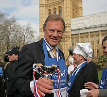Lord St John of Bletso  Parliamentary Pancake Race by Keith Larby