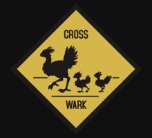 Crosswark - Chocobo Crossing - Dark Shirts by Julia Lichty