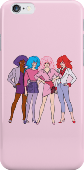 Jem and The Holograms - Group #1 Pink - Tablet & Phone Cases by DGArt