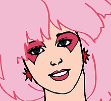 Jem and The Holograms - Jem #2 Face - Tablet & Phone Cases by DGArt