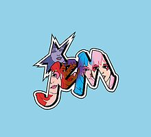 Jem and The Holograms - Logo #1 - Blue - Tablet & Phone Cases by DGArt