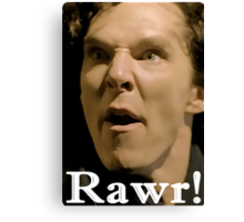 Sherlock--RAWR! Canvas Print