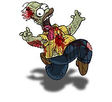Zombie Homer (The Simpsons) Photographic Print