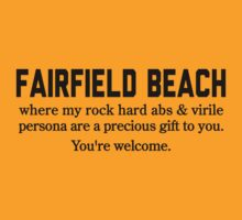 Fairfield Beach Abs by Location Tees