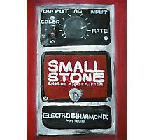 Radiohead Small Stone Guitar Pedal Fine Art Print Of Acrylic Painting Photographic Print