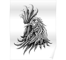 Ornately Decorated Rooster Poster