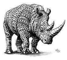 Rhinoceros Photographic Print