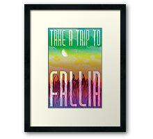 Fallia Travel Poster Framed Print