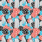 abstract pattern corals by Tanor