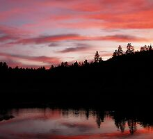 Goldwater Lake Sunset by Diana Graves Photography