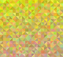 Abstract background from triangles in pink, yellow and green by amovitania