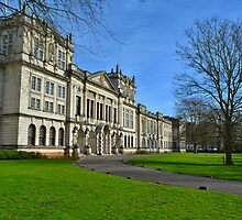 Main Building, Cardiff University by Paula J James
