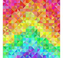 Abstract spectrum background from rainbow triangles Photographic Print