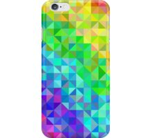 Abstract spectrum background from triangles iPhone Case/Skin