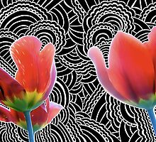 Tulip Drawing Meditation by kpdesign
