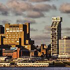 Liverpool skyline at sunset by Paul Madden
