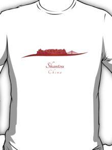 Shantou skyline in red T-Shirt