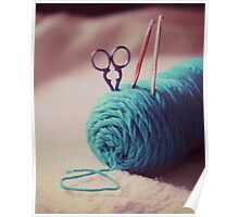 turquoise yarn Poster