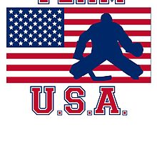 Hockey Goalie American Flag Team USA by kwg2200