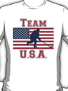 Hockey American Flag Team USA T-Shirt