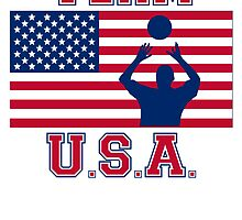 Volleyball Set American Flag Team USA by kwg2200