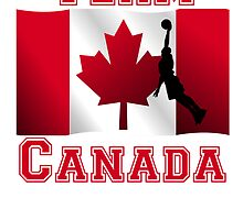 Basketball Dunk Canadian Flag Team Canada by kwg2200
