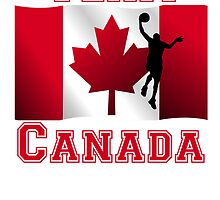 Basketball Layup Canadian Flag Team Canada by kwg2200