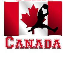 Basketball Rebound Canadian Flag Team Canada by kwg2200