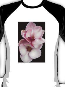 tulip magnolia twins (black bg) T-Shirt