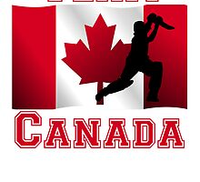 Cricket Player Canadian Flag Team Canada by kwg2200