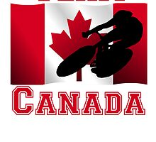 Cycling Canadian Flag Team Canada by kwg2200