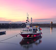 Sunset, Newhaven Harbour. Edinburgh by Miles Gray