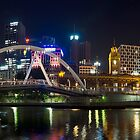 Panoramic View of Flinders St Across The Water by djzontheball