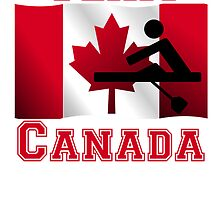 Rowing Canadian Flag Team Canada by kwg2200