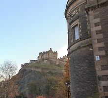 St Cuthbert's Church and Edinburgh Castle by Miles Gray