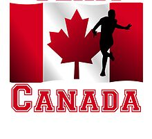 Running Canadian Flag Team Canada by kwg2200