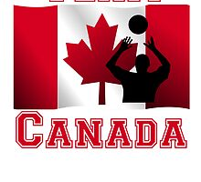 Volleyball Set Canadian Flag Team Canada by kwg2200