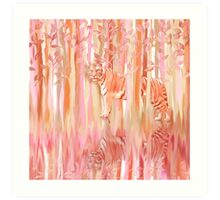 Tiger in the Trees Art Print