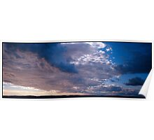 blue clouds in sunset  Poster