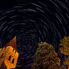 Startrails over Carennac, France by A.M. Ruttle