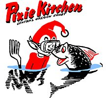 Pixie Kitchen Diving Pixie & Fish by Hedrin