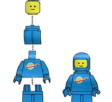 Building Benny, the blue lego spaceman by redcow