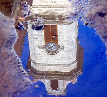 Clock Tower Reflected by Valentino Visentini