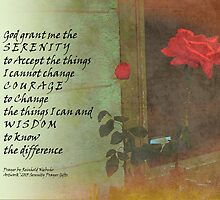 Serenity Prayer Rose and Door by serenitygifts