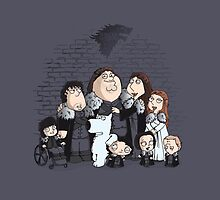 Family Guy in Stark game of thrones ipad by EdWoody