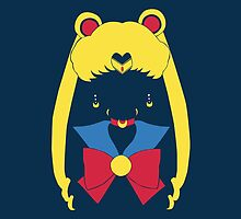 Sailor Moon Mask Head Pop ipad by EdWoody