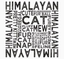 Himalayan Cat Typography by Wordy Type