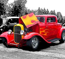 Flaming Hot Rod by rharrisphotos