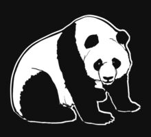 cute panda t-shirt by parko