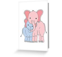 Elephant Family Mom and Son Greeting Card
